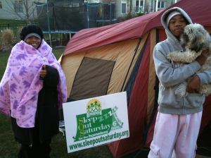 Brittney Wells at Sleep Out Saturday