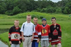 Ben Norgaard, Alec Pierce, Liam Griffin and Calvin McKee