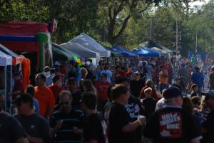 The Hungry, Happy Crowd at the GEBBBQ