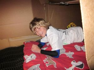 Boy in Box at Sleep Out Saturday