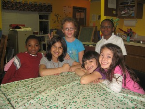 Kids at Bridge Communities' Learning Resource Center
