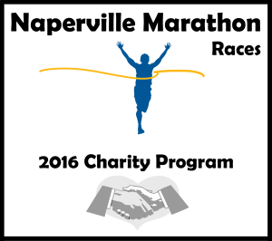 2016 naperville marathon charity program logo